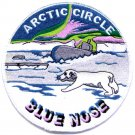 US Navy Blue Nose Submarine arctic circle Patch