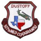 US Army 507th Medical Company Air Ambulance Dustoff Unit Patch
