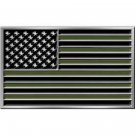United States American Flag Subdue Belt Buckle