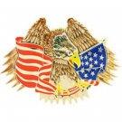 United States American Eagle & Flag Belt Buckle