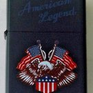 Biker Motorcycle America Flags and Eagle Lighter