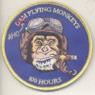 AMO Air and Marine Operations Flying Monkeys Pilot's 100 Hours Patch