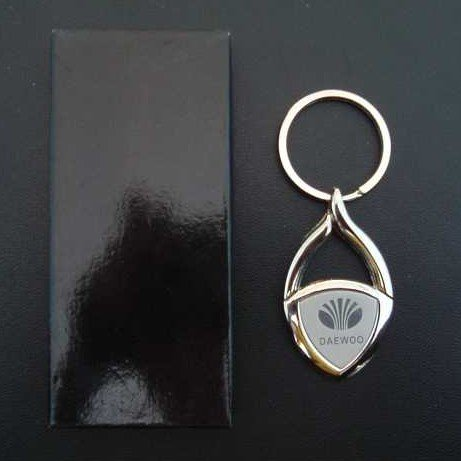 DAEWOO POLISHED STEEL KEY RING TEARDROP DESIGN