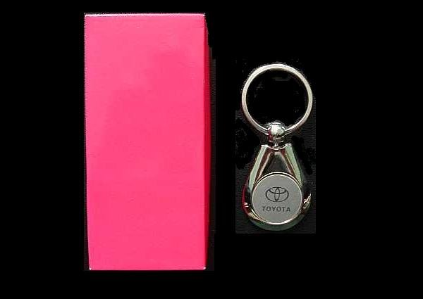 TOYOTA POLISHED STEEL KEY RING PEARL TEAR DESIGN