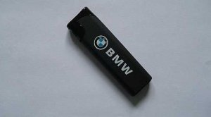 BMW NAME AND BADGE ON BLACK GAS LIGHTER