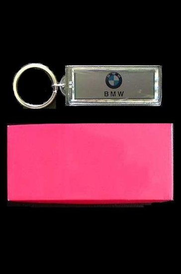 BMW SOLAR POWER FLASHING KEY RING IN GIFT BOX