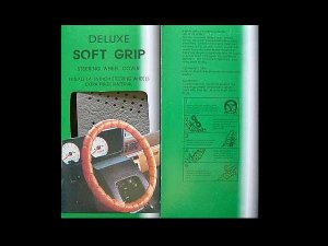 STEERING WHEEL COVER DELUXE SOFT GRIP COLOUR GREY