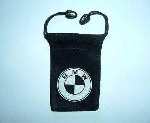 BMW MOBILE PHONE VELVET STYLE DRAWSTRING CARRY CASE