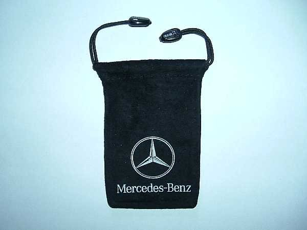 MERCEDES BENZ MOBILE PHONE VELVET STYLE DRAW STRING CARRY CASE