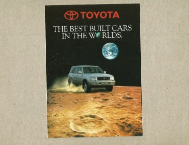 TOYOTA THE BEST BUILT CARS IN THE WORLDS ADVERTISING POSTCARD