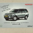 HONDA CR-V SUV ADVERTISING POSTCARD FROM DENMARK