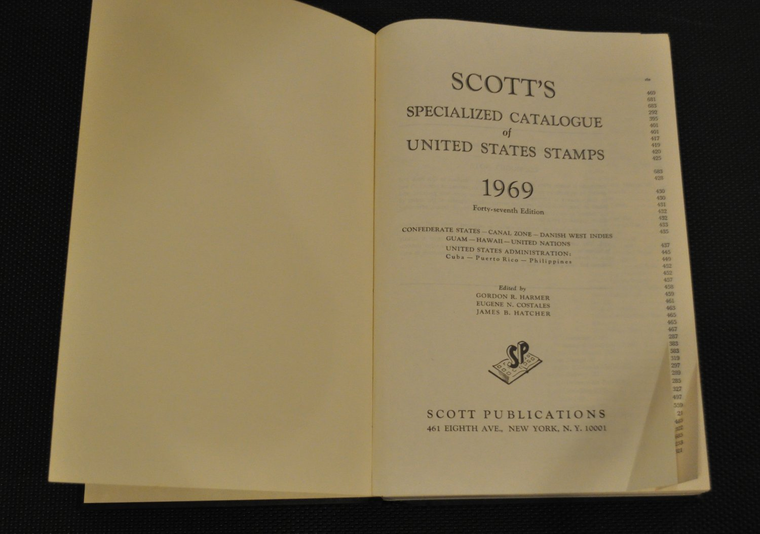 Vintage 1969 Scott's United States Stamp Catalogue Specialized