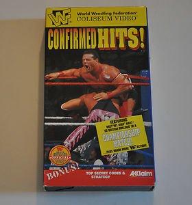 WWF Confirmed Hits 1996 Coliseum Video VHS Bret Hit Man Hart