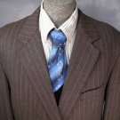 Mens Wool Jacket 50R 50 R XXXL Sport Coat Blazer Nordstrom Pinstripe Wool Fabric Gray Plus Size
