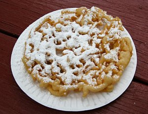 Mailable Mixies - Creative Cakes - Pan Fried Funnel Cake
