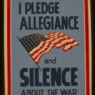 "Old Vintage WPA Photo Reprint: FLAG--- ""WPA WAR SERVICE""--Silence about WAR"