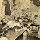Old Vintage PHOTO PRINT:Antique Image: KOLKTA,INDIA CHINATOWN OPIUM DEN HQ