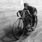 Old Vintage MOTORCYCLE Photo Print: UNKNOWN VELADROME BICYCLE MOTO RACETRACK