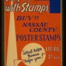 """Old Vintage WPA Photo Reprint: """"Buy Nassau County Poster Stamps"""" 1c Each! Assoc."""