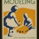 Old Vintage WPA Photo Reprint: Dist No 2. SAND MODELING FOR YOUNGER CHILDREN