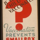 Old Vintage WPA Photo Reprint: CHICAGO, department of HEALTH, SMALLPOX vaccine