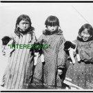 1904 Six Little Arctic Natives (Eskimos) Alaska (8x10) ANTIQUE RP PHOTOGRAPH