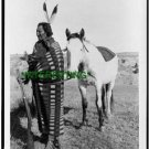 1900 Sioux Indian Holding Rifle with Horse Crow Dog (8x10) ANTIQUE RP PHOTOGRAPH