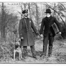 Police Dog, Policeman and Thief (8x10) ANTIQUE DOG RP PHOTOGRAPH