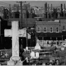 Antique Reproduction Photograph: Bethlehem Graveyard and Steel Mill,Pennsylvania