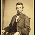 Antique President Abraham Lincoln Reproduction Photo: U.S. President 1864