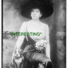 MRS. JOSEPH PALMER KNAPP WITH DOG IN 1913  (8x10) ANTIQUE DOG RP PHOTOGRAPH