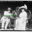 AMBASSADOR BAKHMETEFF WITH WIFE AND DOG 1913 (8x10) ANTIQUE DOG RP PHOTOGRAPH