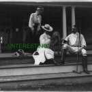 JOHN DREW IN 1902--SEATED ON PORCH STEP (8x10) ANTIQUE DOG RP PHOTOGRAPH