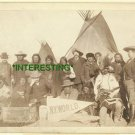 "1891 NATIVE AMERICAN TRIBE TIPI ""SHORT BULL"" (8x10) ANTIQUE RP PHOTOGRAPH"