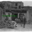 HOPI NATIVE AMERICAN ADULTS GATHERING IN 1905 (8x10) ANTIQUE RP DOG PHOTOGRAPH