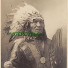 "NATIVE AMERICAN SIOUX CHIEF ""HE DOG"" IN 1915 (8x10) ANTIQUE RP DOG PHOTOGRAPH"