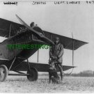 FRANK STANTON IN FRONT OF BIPLANE WITH DOG 1915 (8x10) ANTIQUE RP DOG PHOTOGRAPH