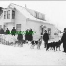 DR. SUTHERLAND LEAVING FAIRBANKS FOR KANTISHNA (8x10) ANTIQUE RP DOG PHOTOGRAPH