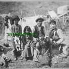 COPPER RIVER, ALASKA -CORDOVA NATIVES IN 1910 (8x10) ANTIQUE RP DOG PHOTOGRAPH