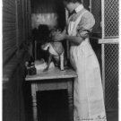 BIDE-A-WEE HOME FOR ANIMALS NYC BANDAGING 1907 (8x10) ANTIQUE RP DOG PHOTOGRAPH