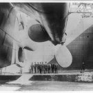 New Studio Quality Antique RP Ship Photo: TITANIC, DRY DOCK, REAR PROPELLERS