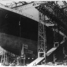 New Studio Quality Antique RP Ship Photo: CONSTRUCTION OF THE TITANIC, DRY DOCK