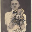 OLD VINTAGE Antique RP Photo: Signed Magician, Kolar, Shackled, 1924 Chicago