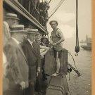 OLD VINTAGE Antique RP Photo: Harry Houdini, Escape Crate NY Harbor, 1914 Magic