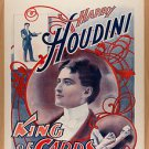 "OLD VINTAGE Antique Photo: Houdini Magician, Harry, ""King of Cards"" Poster"
