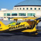 """Photo Reprint:Aircraft: Air Races, Jim Leroy's """"Bulldog"""" Racer, Biplane, Yellow"""