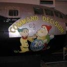 "Photo Reprint:AIRPLANE, OLD VINTAGE, Aircraft Nose Art ""Command Decision Dwarfs"""