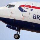 Photo Reprint:AIRPLANE, Front Nose, BRITISH AIRWAYS, BA, UK, GEAR DOWN, N. UP