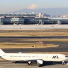 Photo Reprint:Size Choice:Airplane: B-767, BOEING,mt. fuji, Japanese Airlines