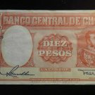 World/ Foreign Bill Banknote: CHILE,DIEZ PESOS, UN CONDOR, SOUTH AMERICA,VINTAGE